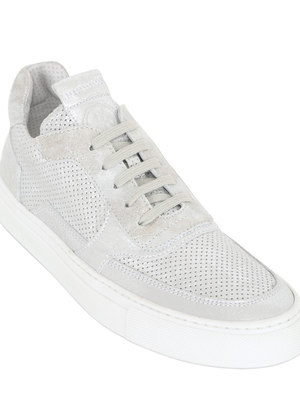 Mariano Di Vaio Mercury 775 Metallic Leather Sneakers in Silver (White)