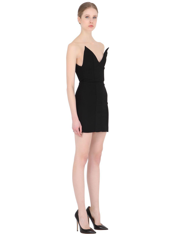Y. project Stretch Corset Mini Dress in Black