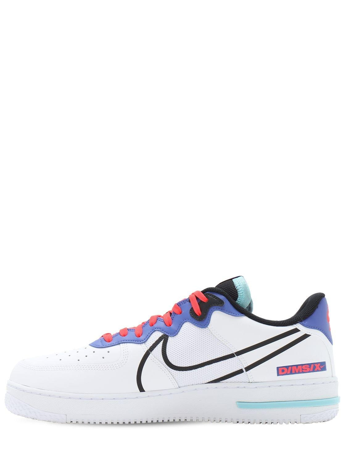 Nike Leather Air Force 1 React in White for Men - Lyst