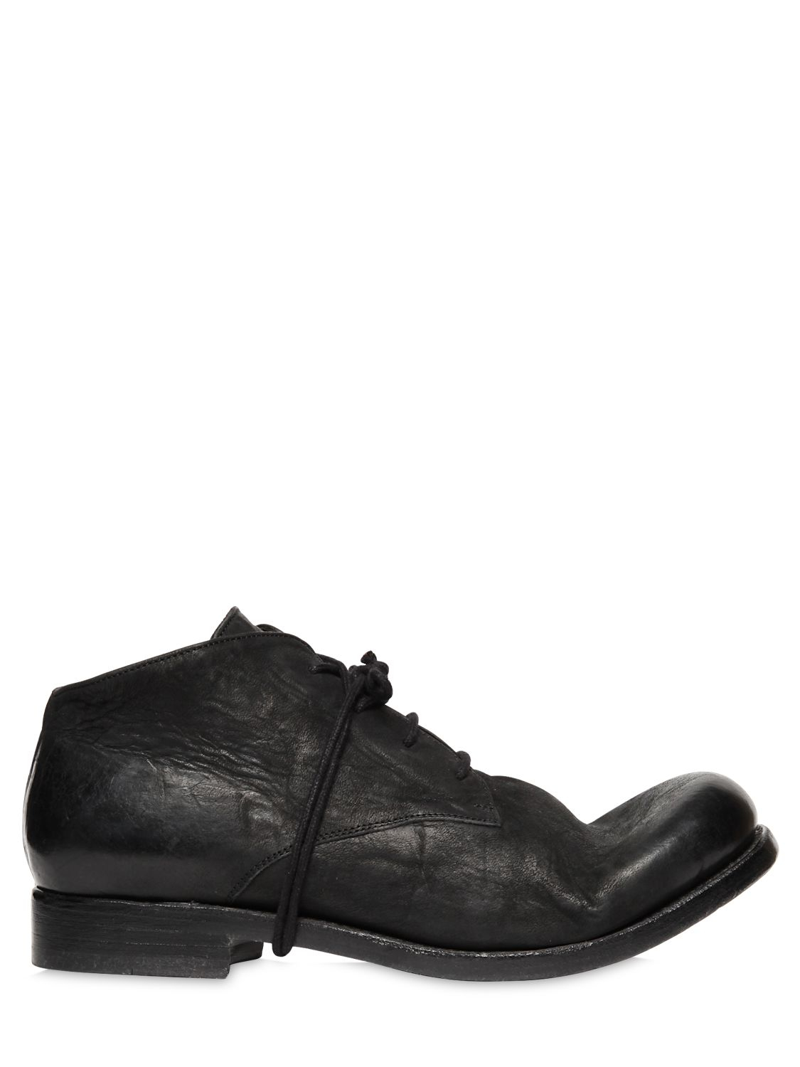 the last conspiracy 30mm matte leather derby shoes in