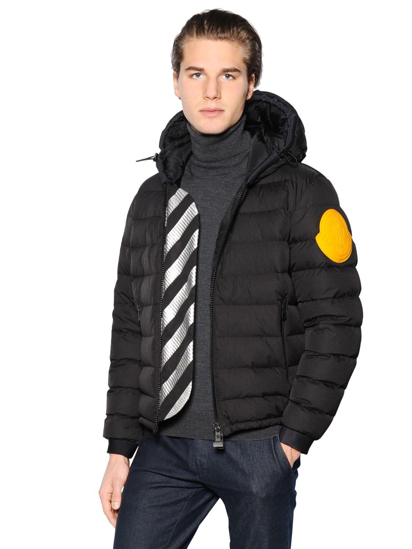 42cf920c8 Moncler Black X Off-White Nylon Dinard Down Jacket for men
