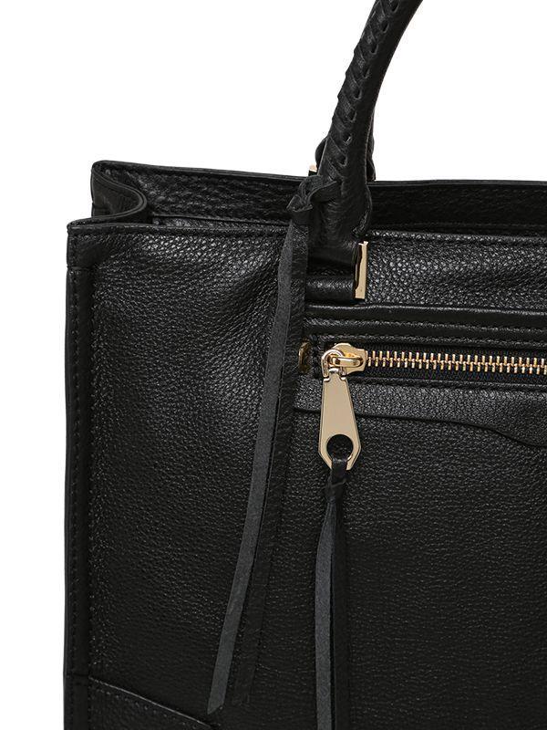 Rebecca Minkoff Regan Leather Top Handle Bag in Black