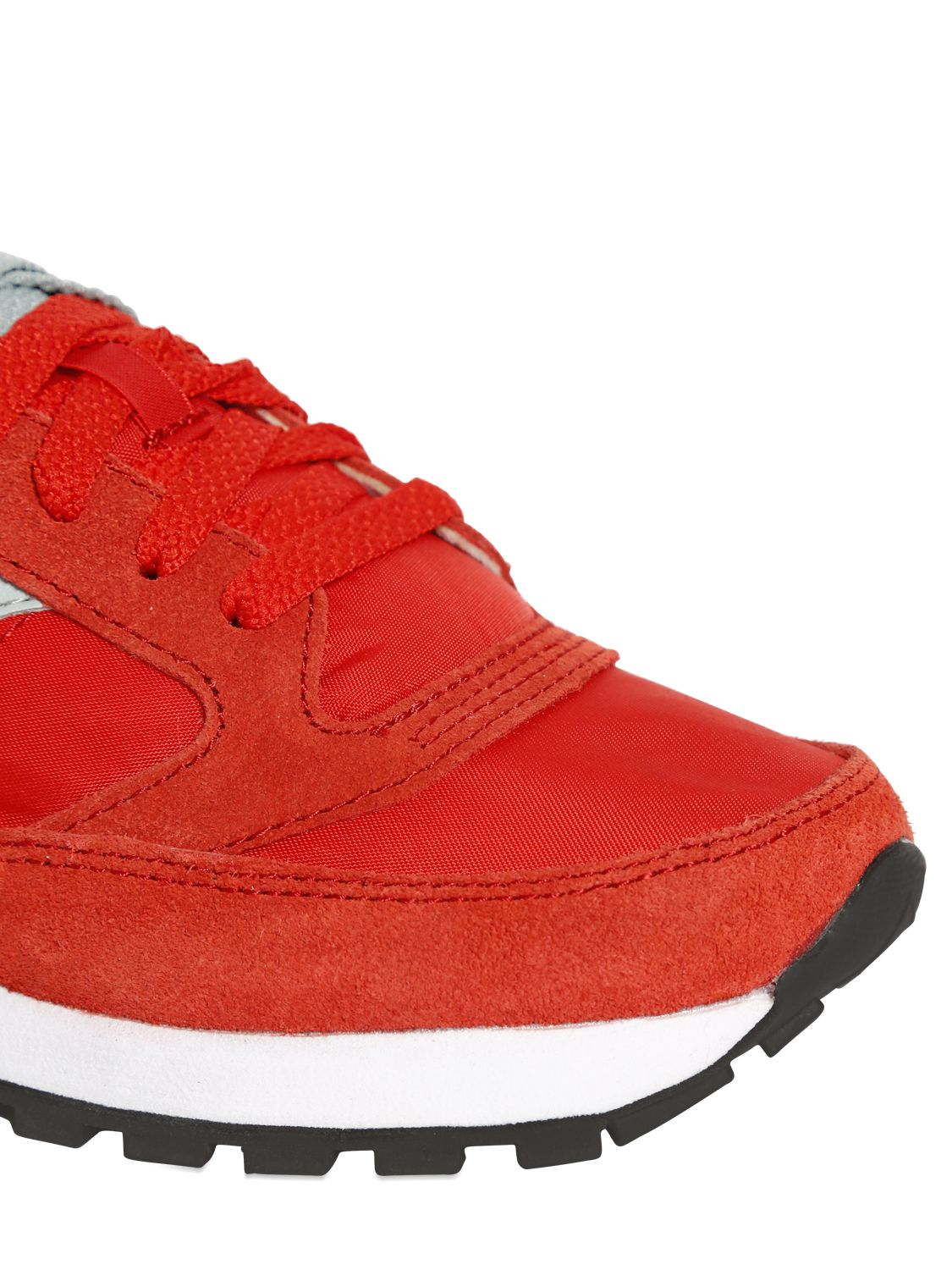 Saucony Leather Jazz Suede & Nylon Sneakers in Red