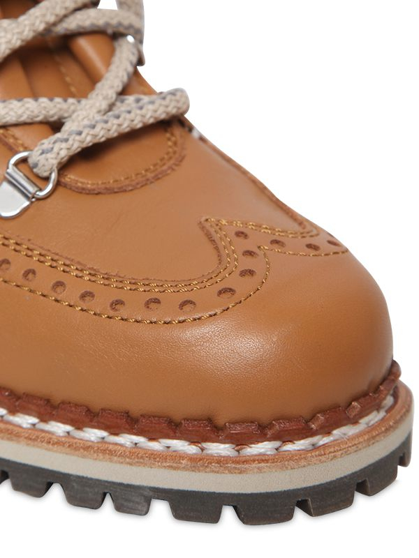 Tabitha Simmons 30mm Bexley Leather Hiking Boots in Tan (Brown)