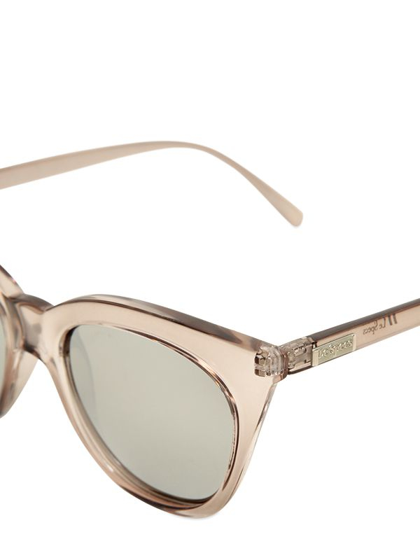 Le Specs Transparent Acetate Sunglasses in Light Pink (Pink)