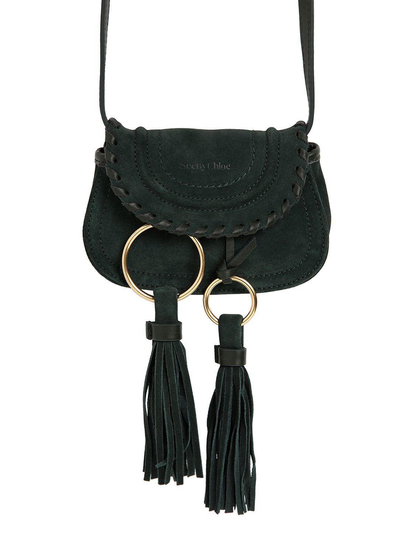 eab6c93b6339 Lyst - See By Chloé Mini Polly Suede Shoulder Bag in Green