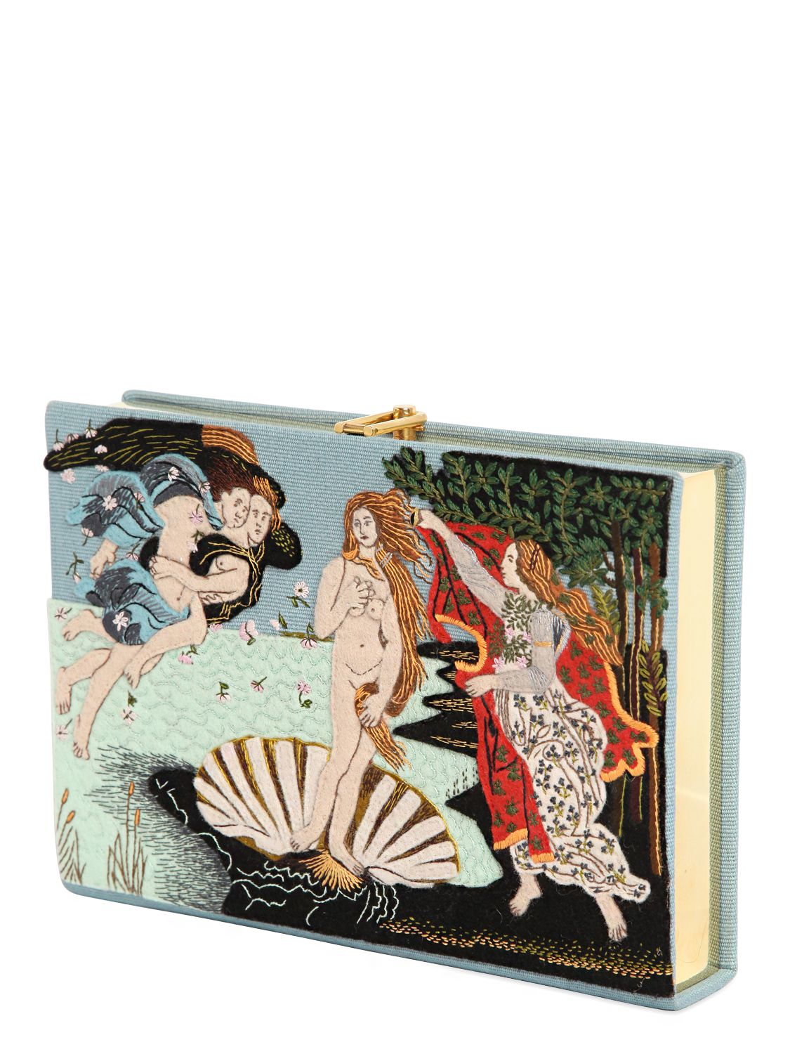 Olympia le-tan Botticelli Embroidered Book Clutch