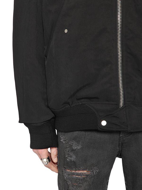 Off-White c/o Virgil Abloh Stripes Printed Canvas Bomber Jacket in Black for Men