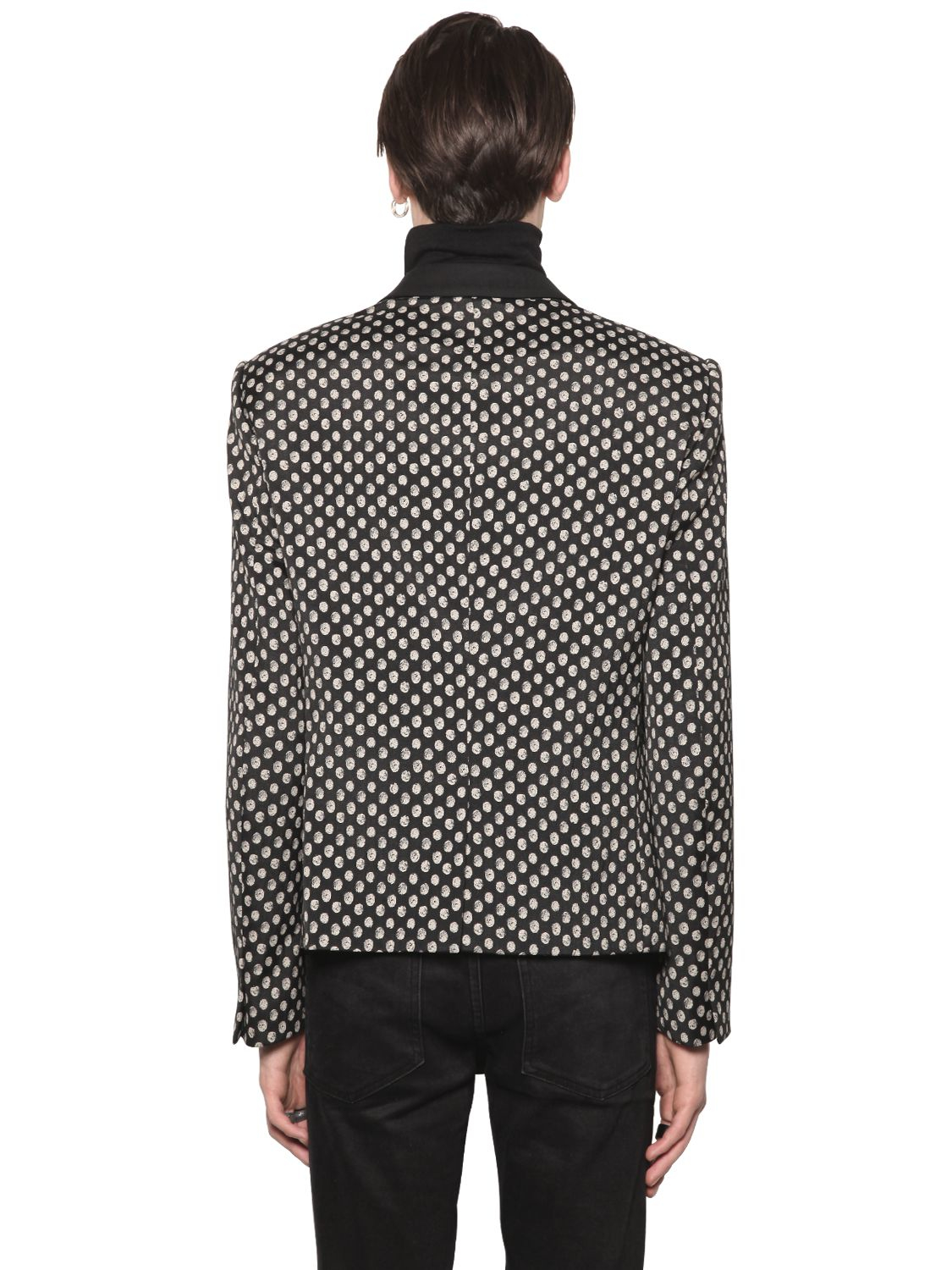 All Apologies Polka Dot Cool Wool Jacquard Jacket for Men