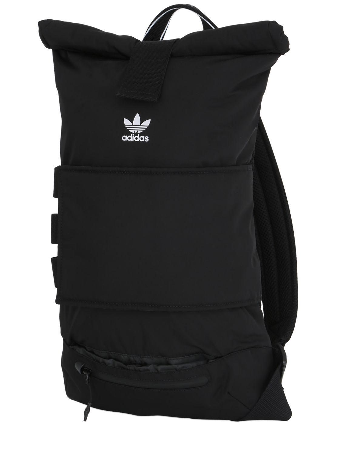 Adidas Originals Nmd Nylon Roll Top Backpack In Black For