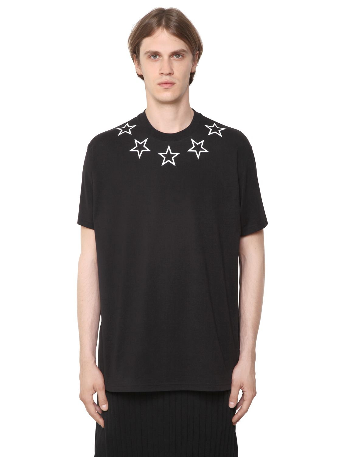 Givenchy cuban stars print cotton jersey t shirt in black for Givenchy t shirt man