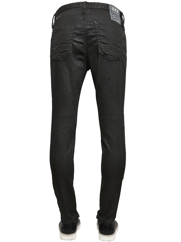 Denham Art Comes First Wax Stretch Denim Jeans in Black for Men