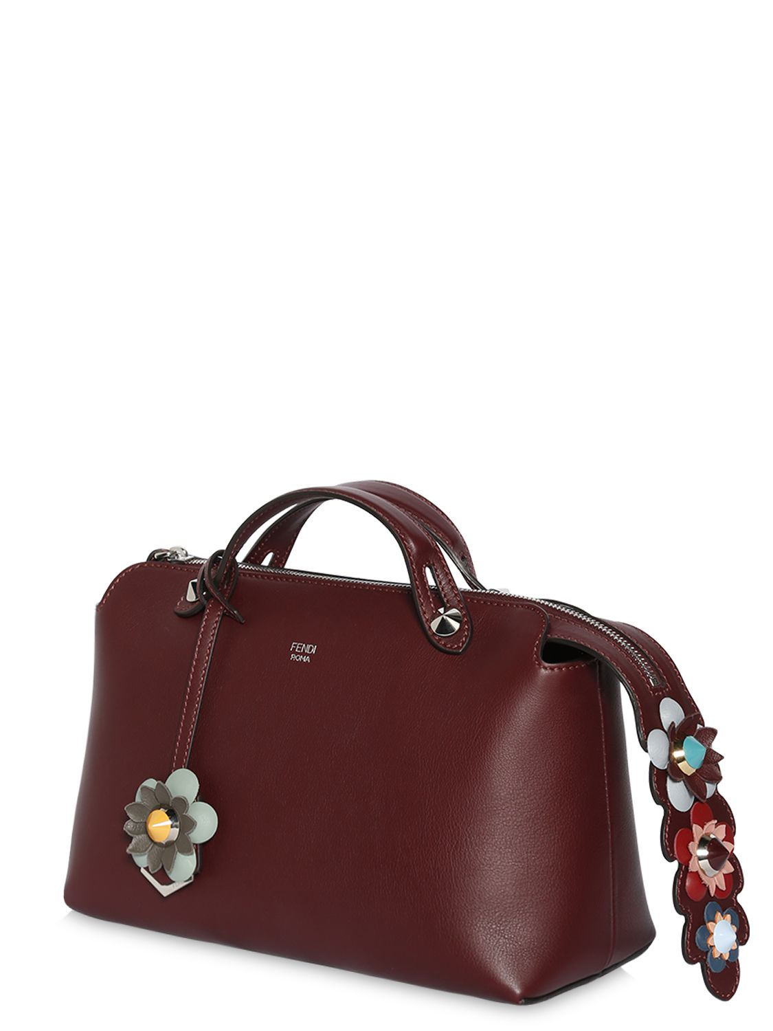 ae4c7d20ebde Lyst - Fendi Small By The Way Bag W  Flower Details