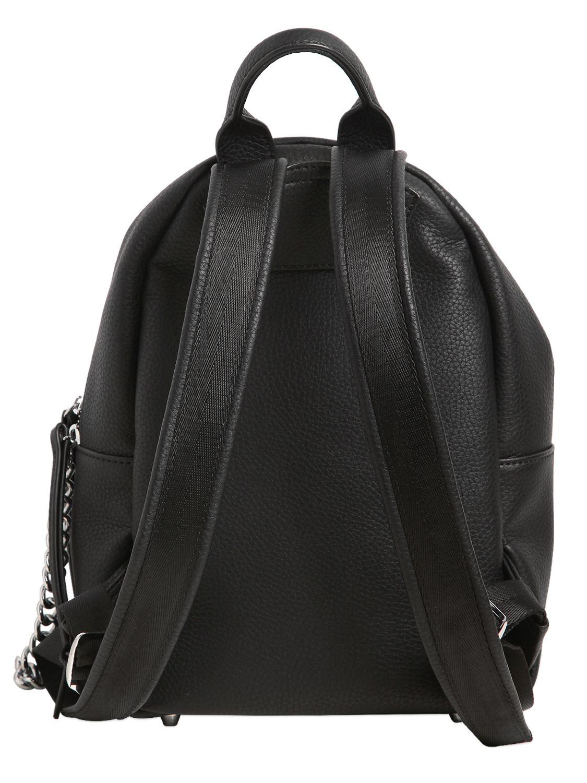 Chiara Ferragni Leather Piercing Flirting Eyes Mini Backpack in Black
