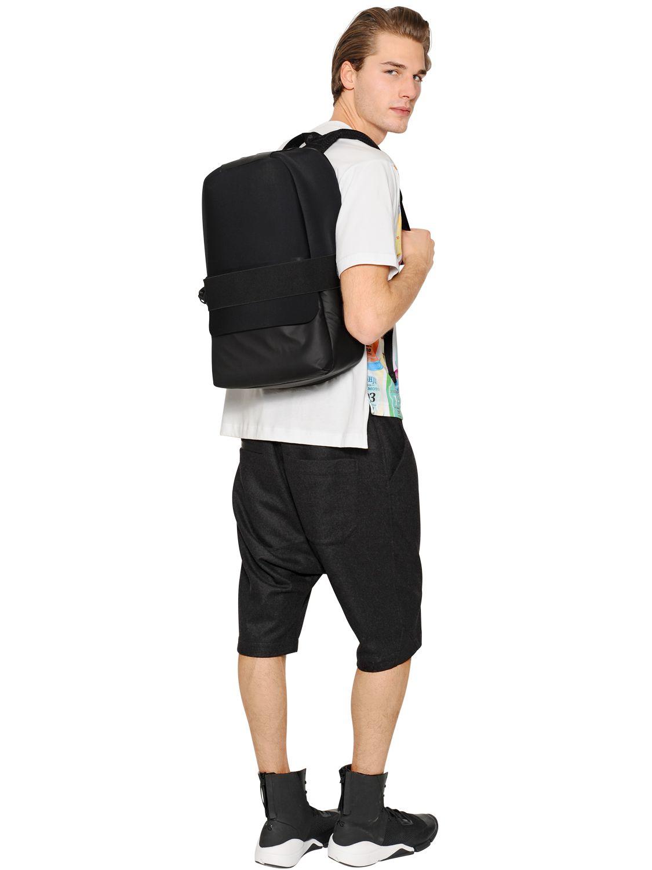 Y-3 Qasa Neoprene Backpack in Black for Men