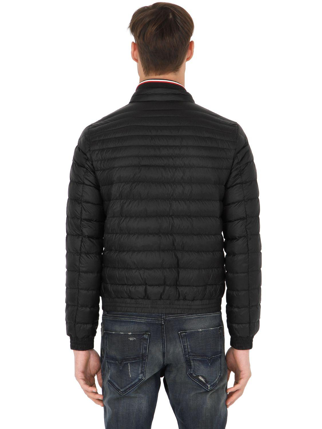 Moncler Synthetic Garin Lightweight Nylon Down Jacket in Black for Men