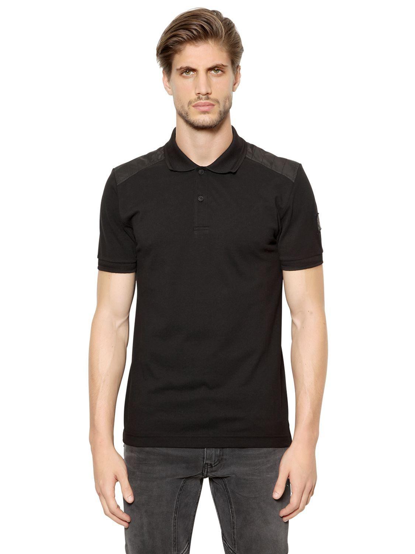 Lyst Belstaff Cotton Piqu Polo Shirt In Black For Men