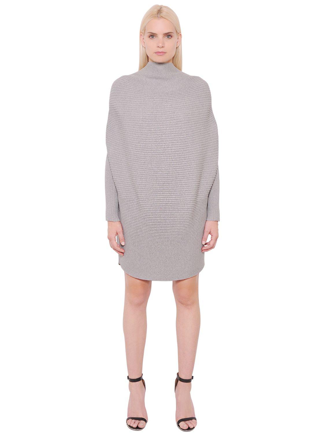 Lyst Designers Remix Draped Cotton Rib Knit Sweater