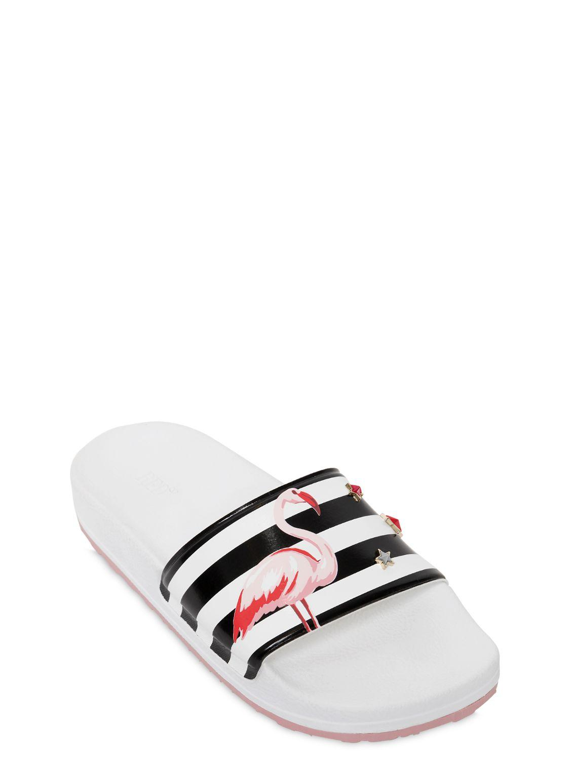 Red Valentino Flamingo Rubber Slides With Star Studs Lyst