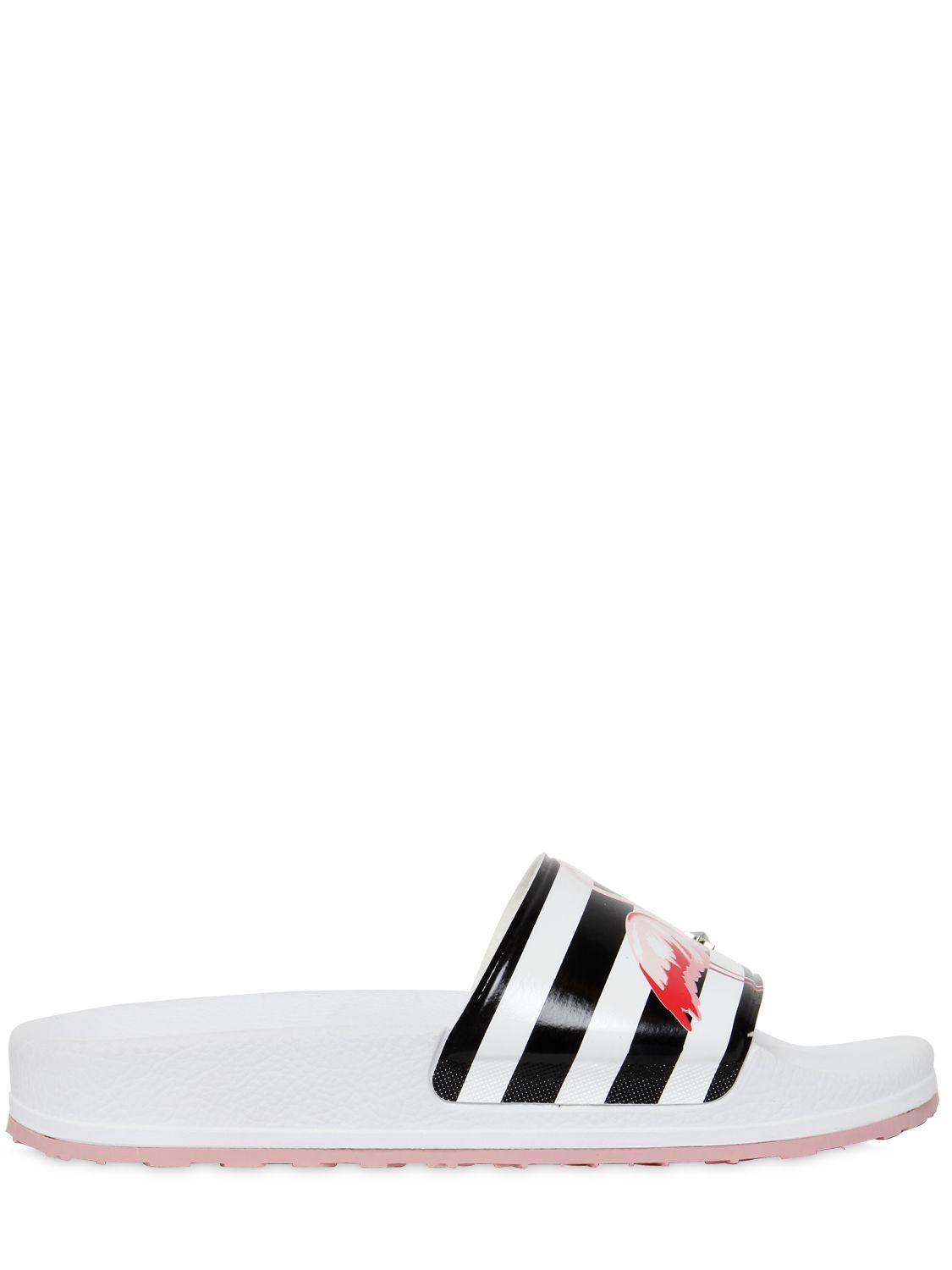 Lyst Red Valentino Flamingo Rubber Slides With Star Studs