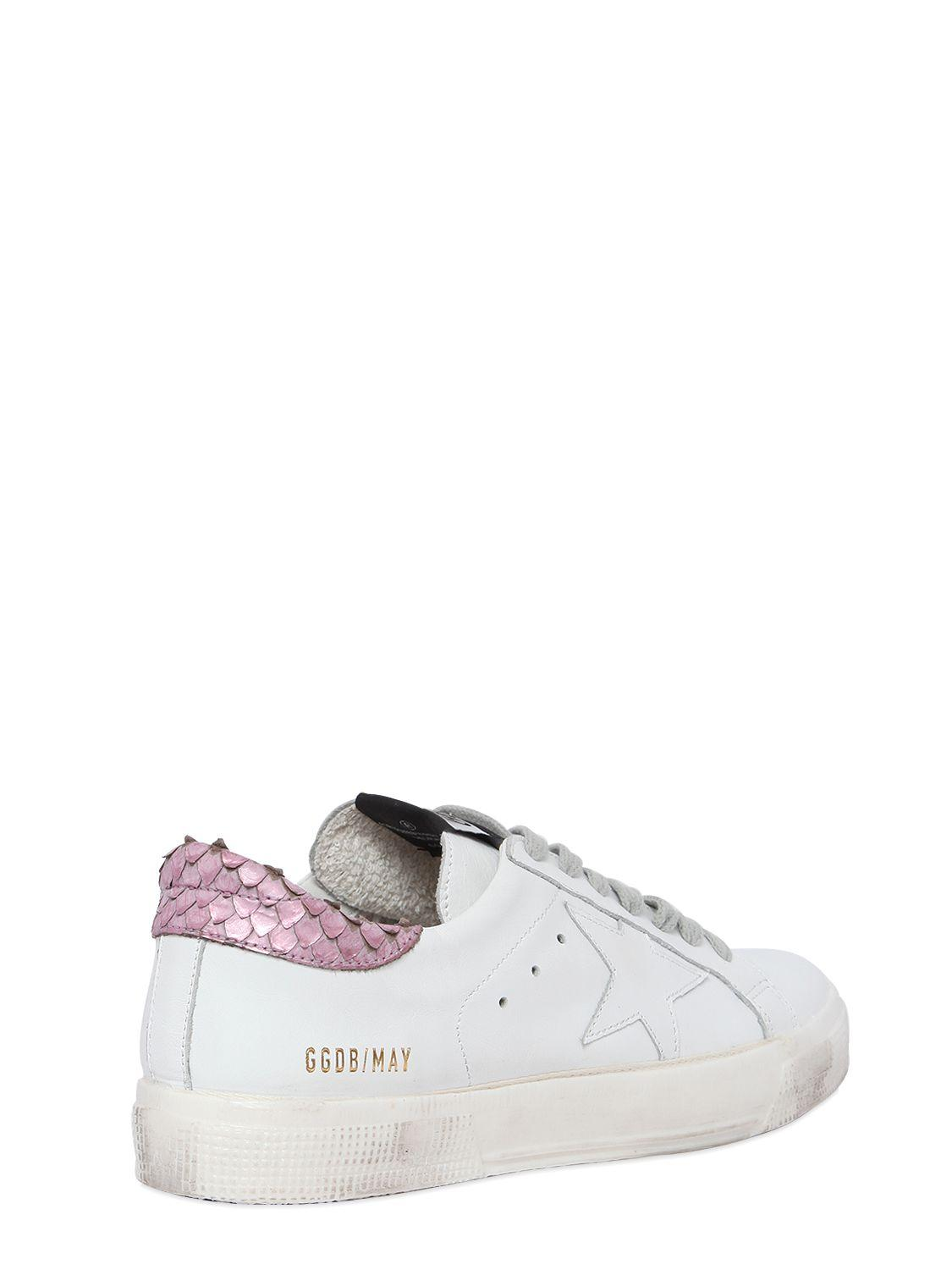 Golden Goose Deluxe Brand 20mm May Leather Sneakers