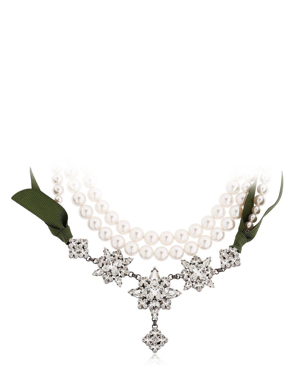 Ellen Conde Brilliant Jewelry Crystal Necklace
