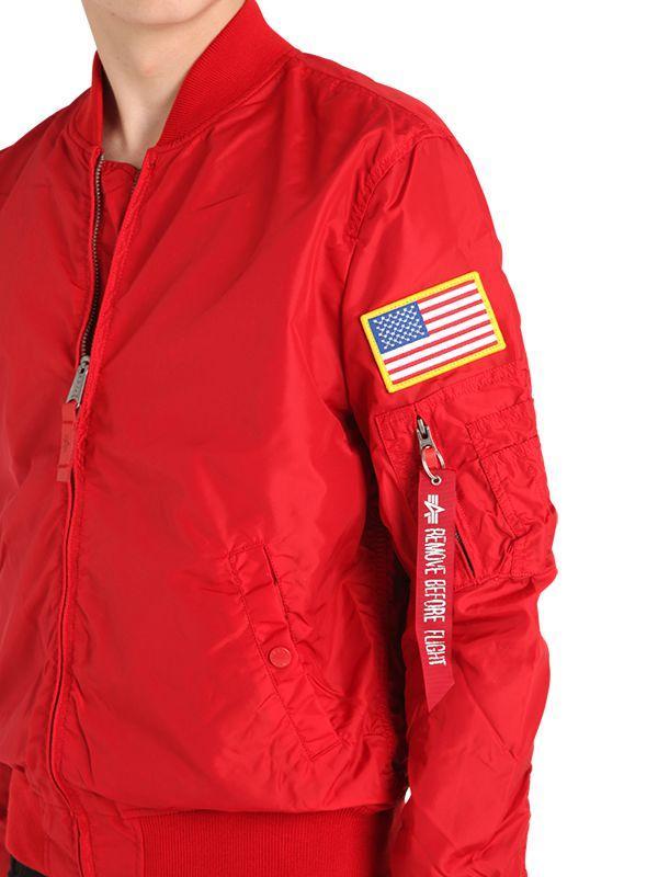 f0f1fec31 Alpha Industries Red Ma-1 Tt Nasa Reversible Bomber Jacket for men
