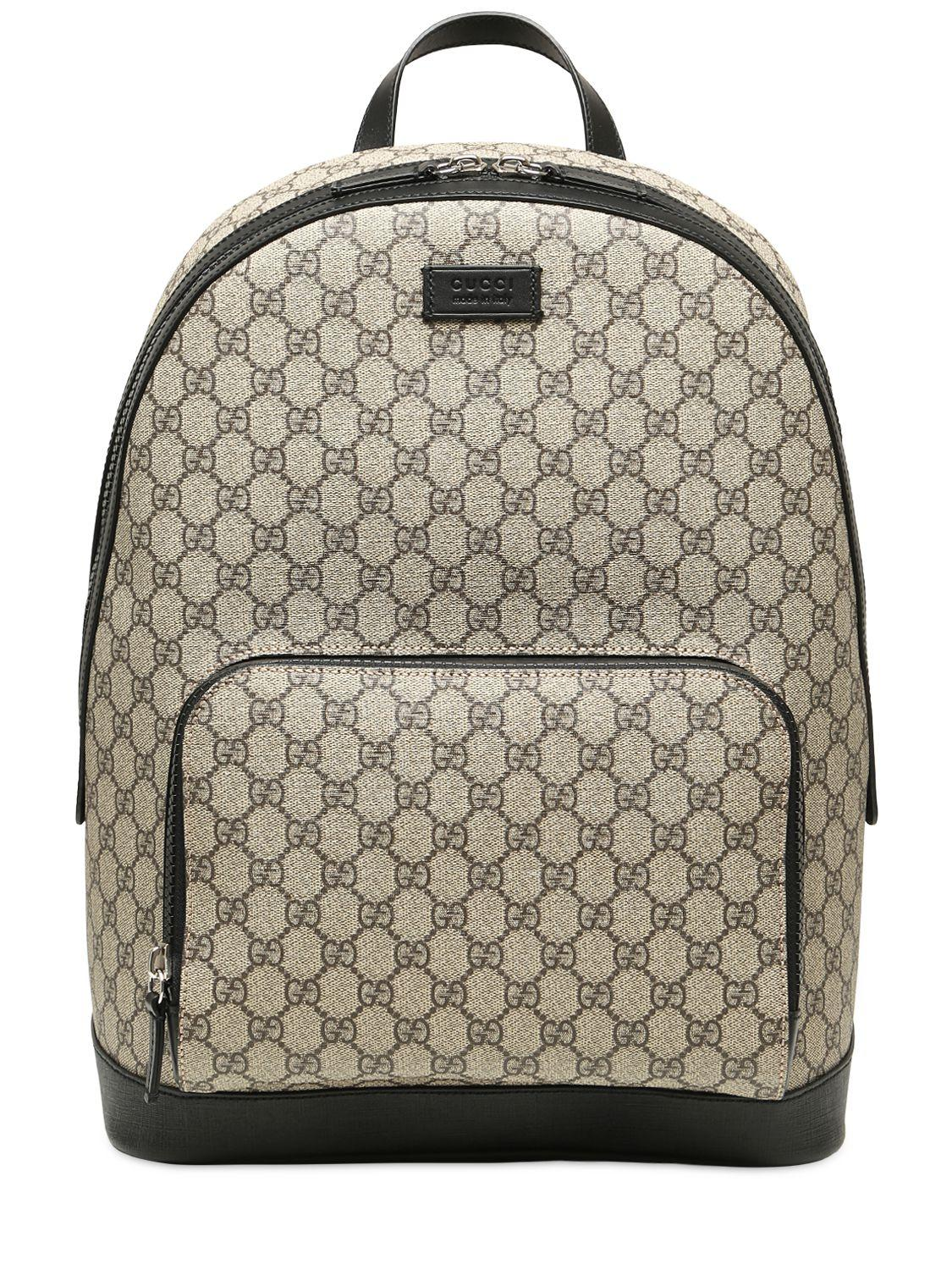 fe0c8be46970 Lyst - Gucci Gg Supreme Print Backpack in Natural - Save 2%