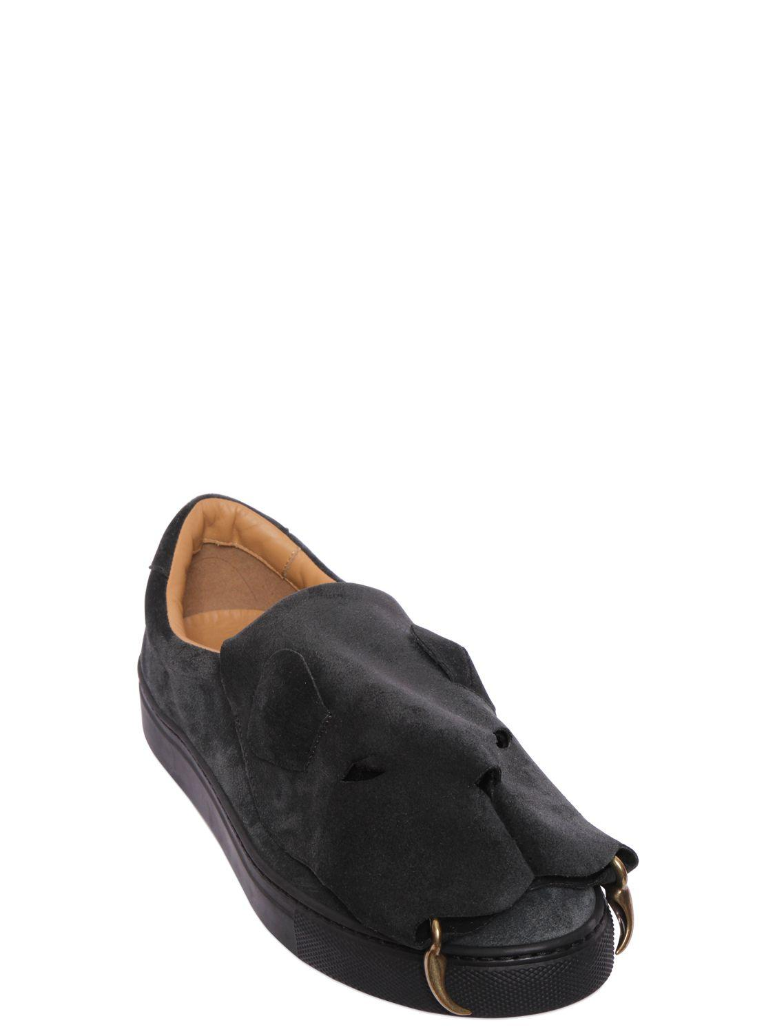 Lyst Vivienne Westwood Tiger Suede Slip On Sneakers In
