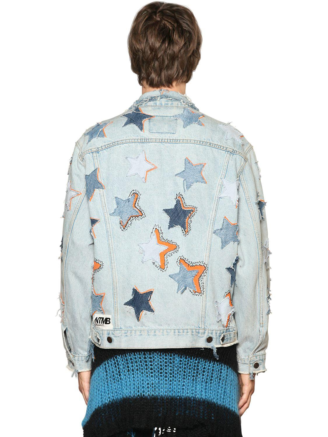 Faith Connexion Ntmb Star Patched Denim Jacket in Blue for Men