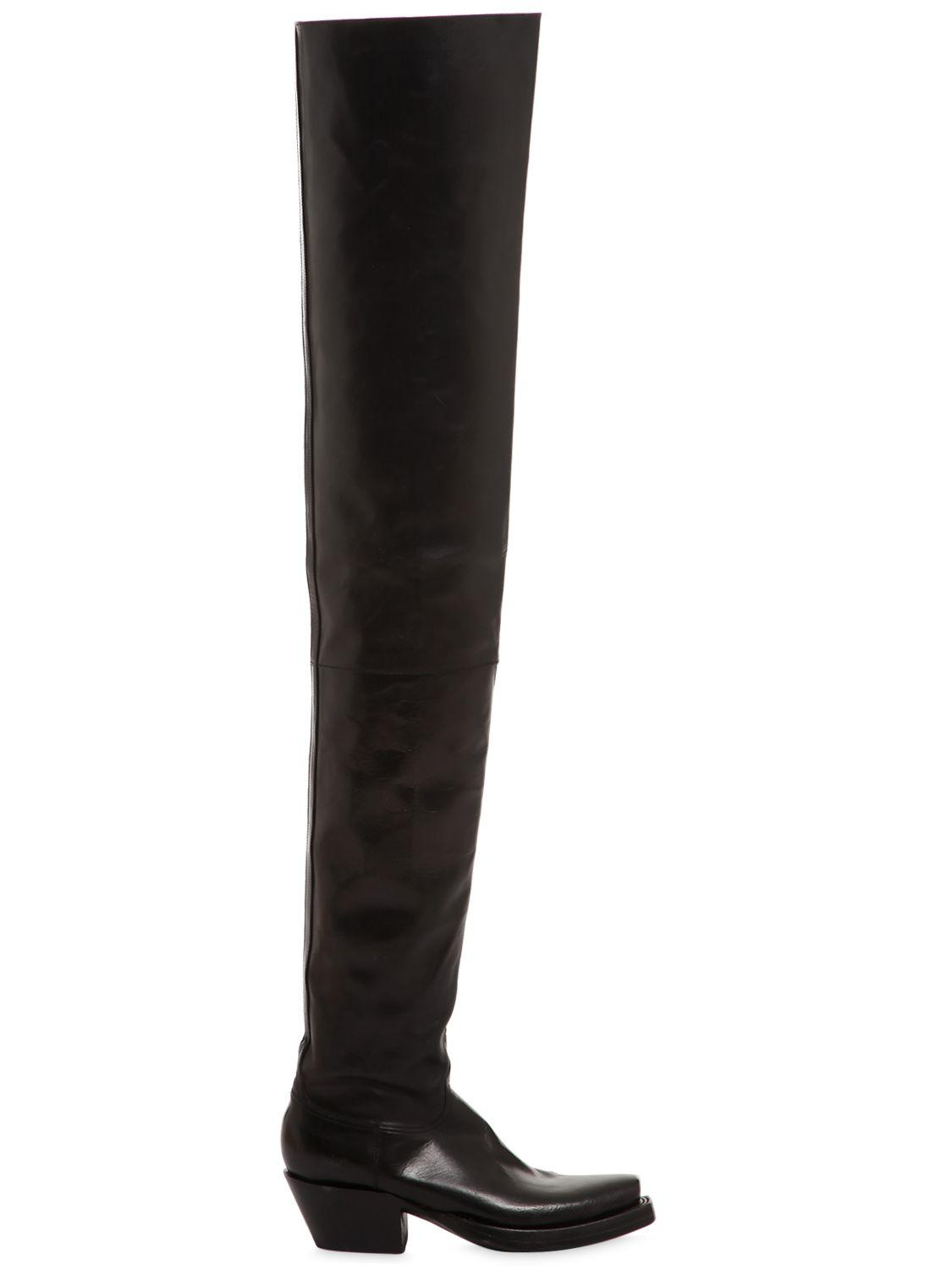 Lyst Vetements Lucchese Thigh High Boots In Black For Men