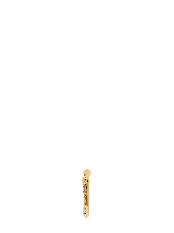 Anissa Kermiche Diamond & Gold Septum Nose Ring in Metallic
