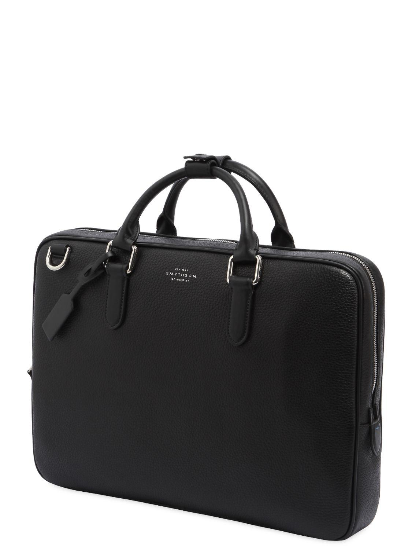 Lyst - Smythson Burlington Soft Leather Slim Briefcase in ...