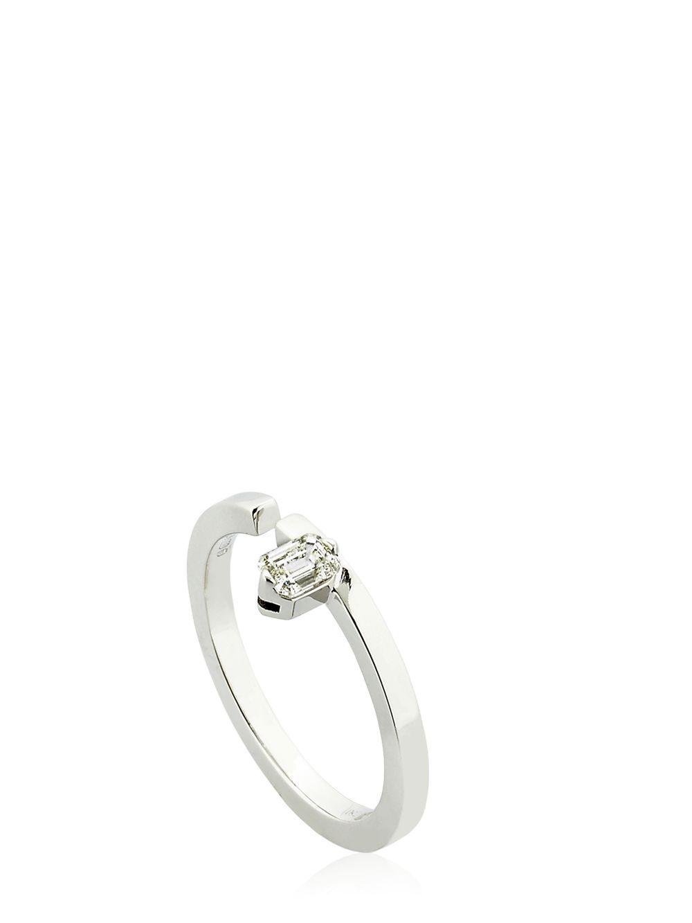 Womens White Diamond Ring Dauphin TG9aix