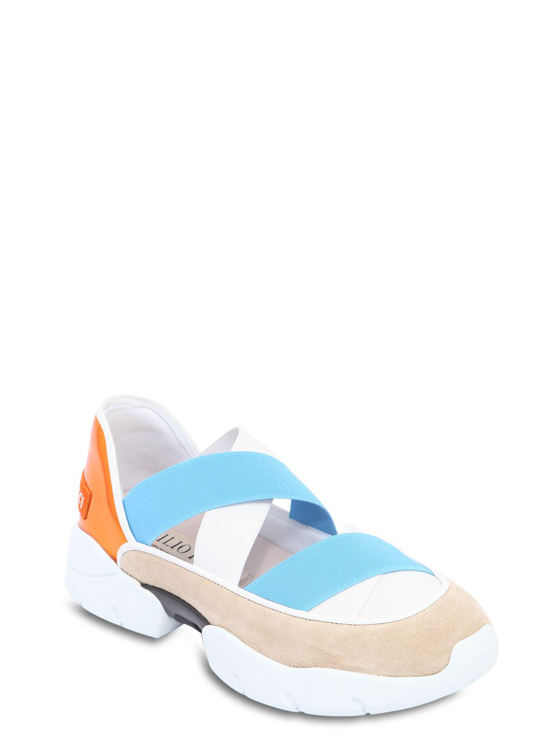Emilio Pucci 30MM SUEDE & ELASTIC SANDAL SNEAKERS Outlet Latest Collections Cheap Sale Reliable Free Shipping High Quality fOJouf