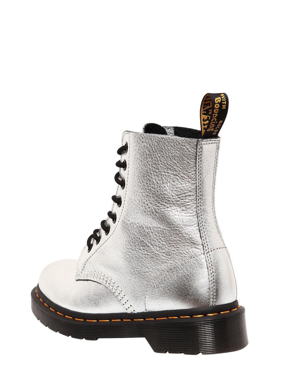 Dr. Martens 30mm Pascal Metallic Leather Boots
