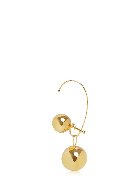 Maison Margiela Spheres Mono Earring in Gold (Metallic)