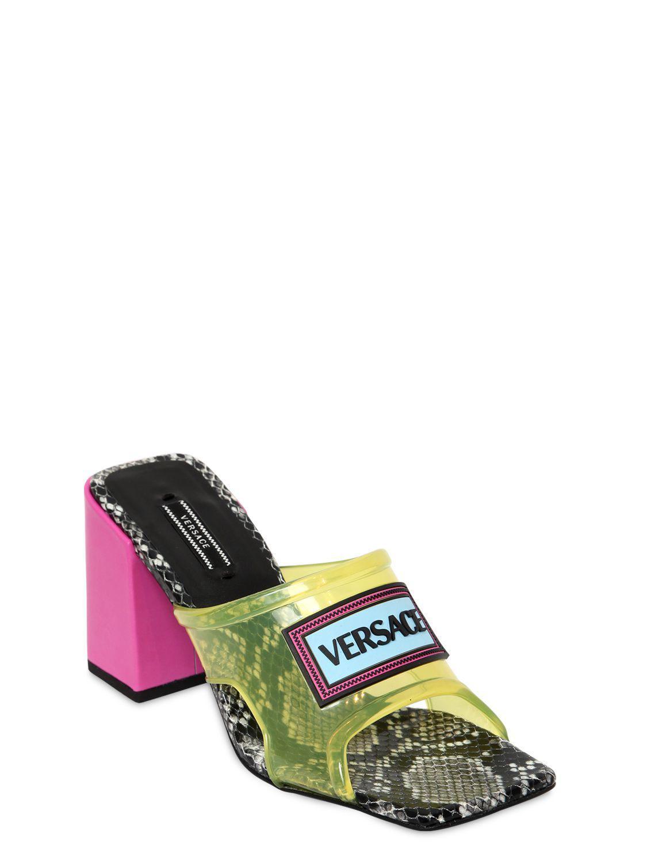 versace plexi sandals off 60% - www