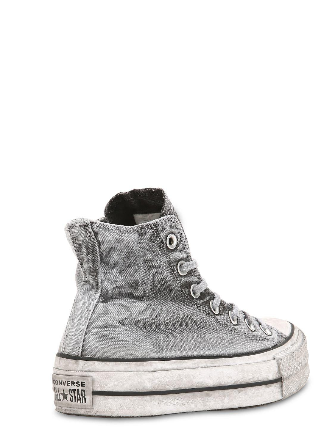 0fd7b093a95785 Converse Chuck Taylor High Lift Canvas Sneakers in Gray - Lyst