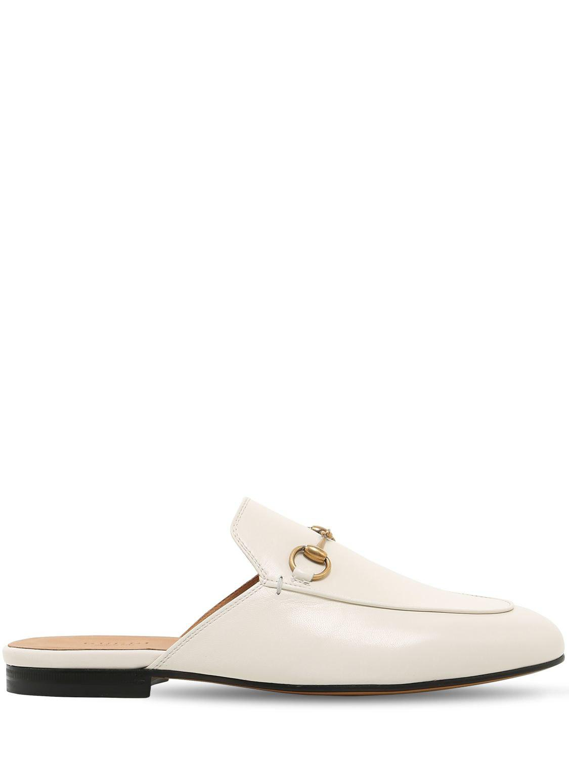 08fdc067162 Lyst - Gucci Princetown Loafer Mule in White