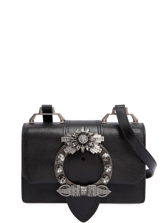 embellished shoulder bag - Black Miu Miu la3rKifHi