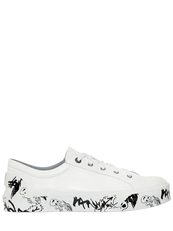 Lanvin Imprimé Unique Chaussures De Sport - Blanc cgd2vh1ica