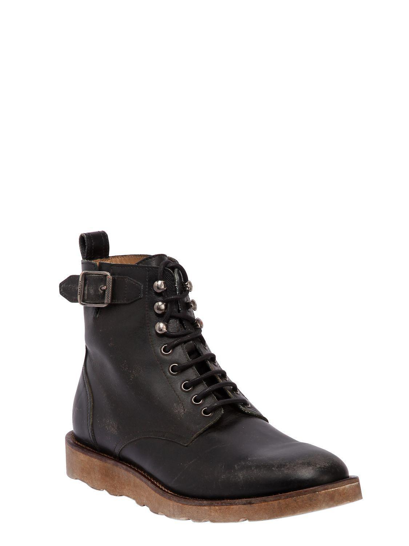 4969470f08b Belstaff Black Chancery Vintage Effect Leather Boots for men