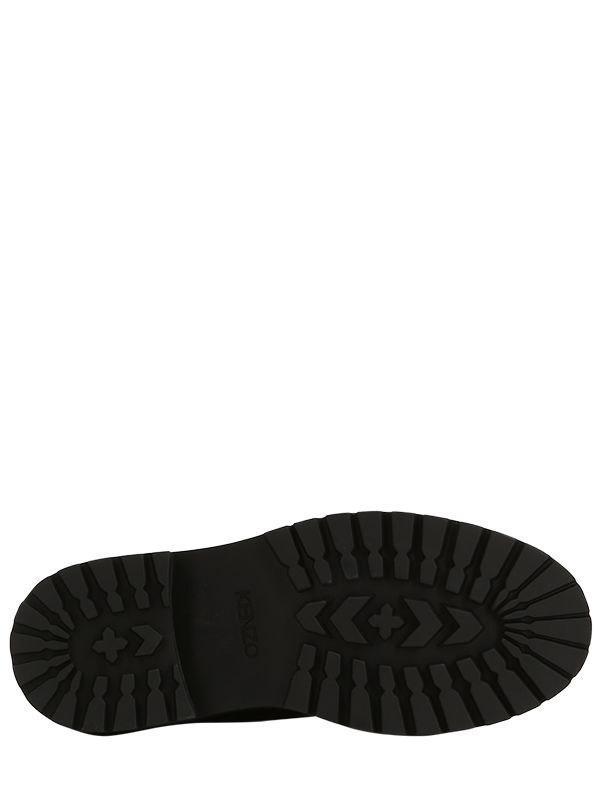 Botines con cordones KENZO de Cuero de color Negro