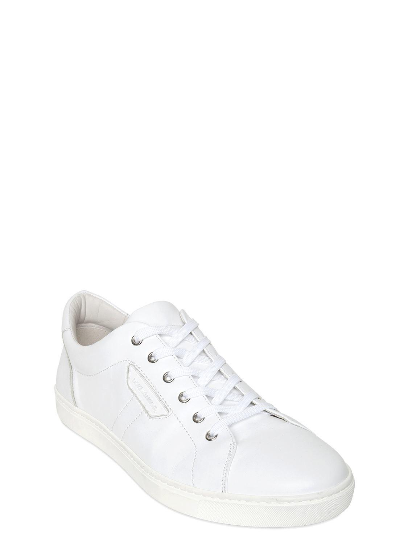 Dolce & Gabbana - White London Nappa Leather Sneakers for Men - Lyst. View  fullscreen