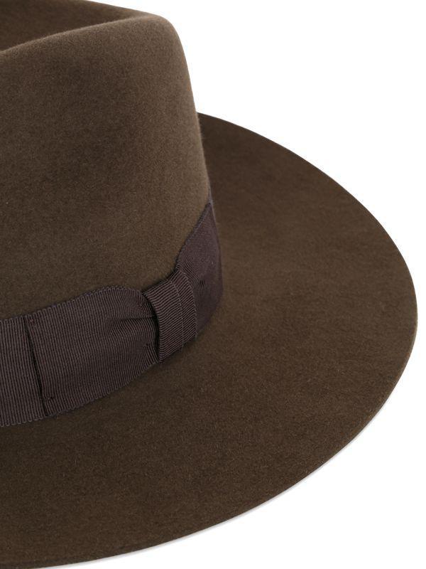 1981153489f1c Lyst - Saint Laurent Lapin Fur Felt Wide Brimmed Hat