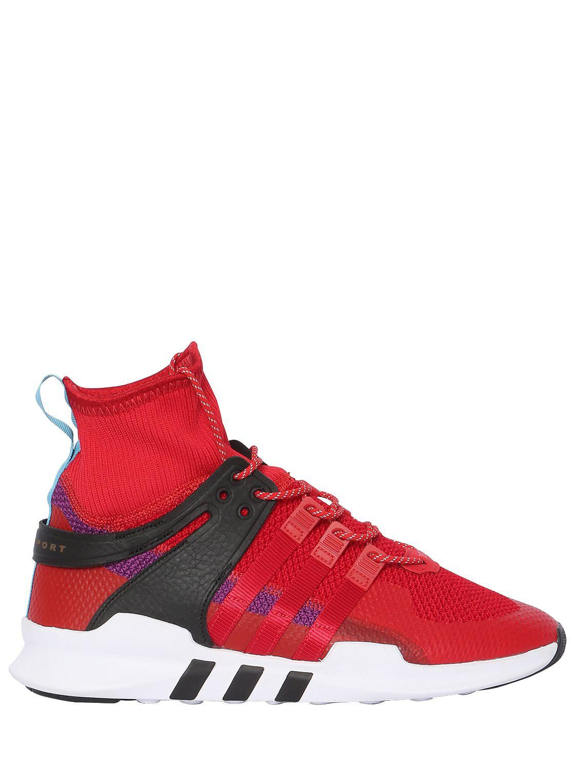 b6651b1f89c3 Lyst - Adidas Originals Eqt Support Adv Sneakers in Red for Men