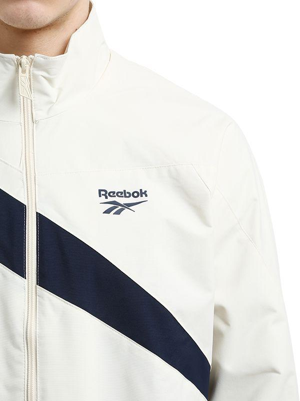 Reebok Synthetic Classics Track Top in White/Navy (White) for Men
