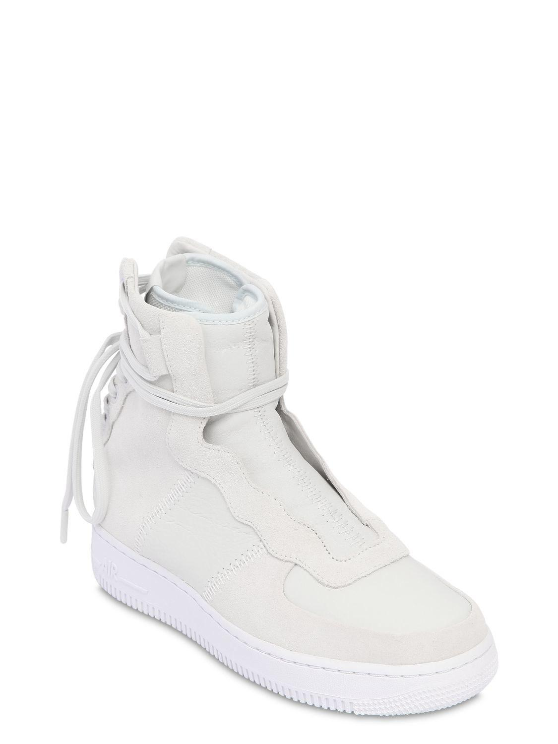 Nike Suede Air Force 1 Rebel Xx Lace-up Sneakers in White
