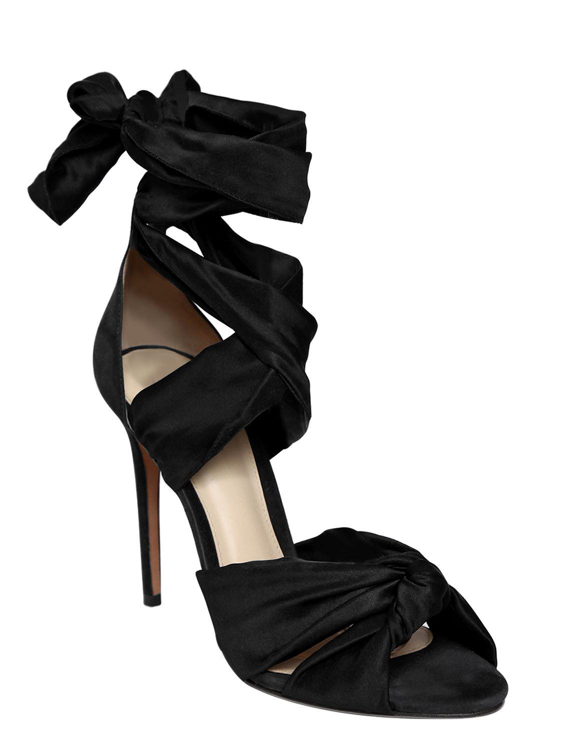 ALEXANDRE BIRMAN 100MM KATHERINE SATIN SANDALS 7qTPgaBsY